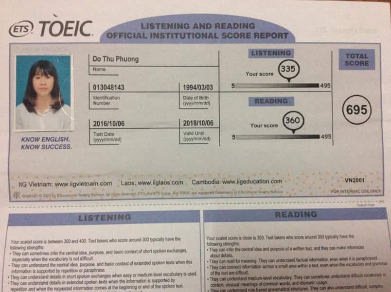 695 điểm Toeic: Kết quả viên mãn của cô sinh viên ngân hàng