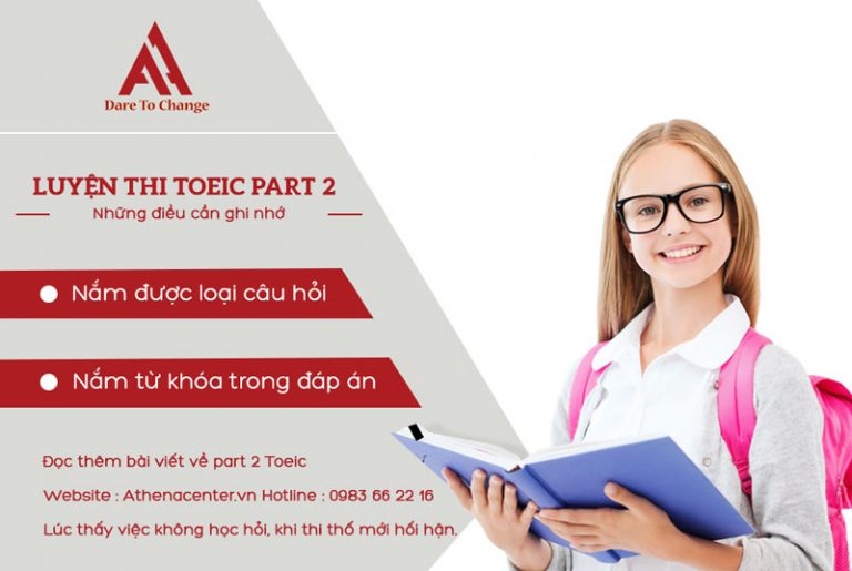 luyện thi toeic part 2 - anh ngữ athena