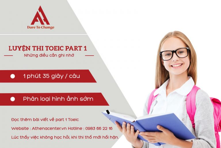 luyện thi toeic part 1 - anh ngữ athena