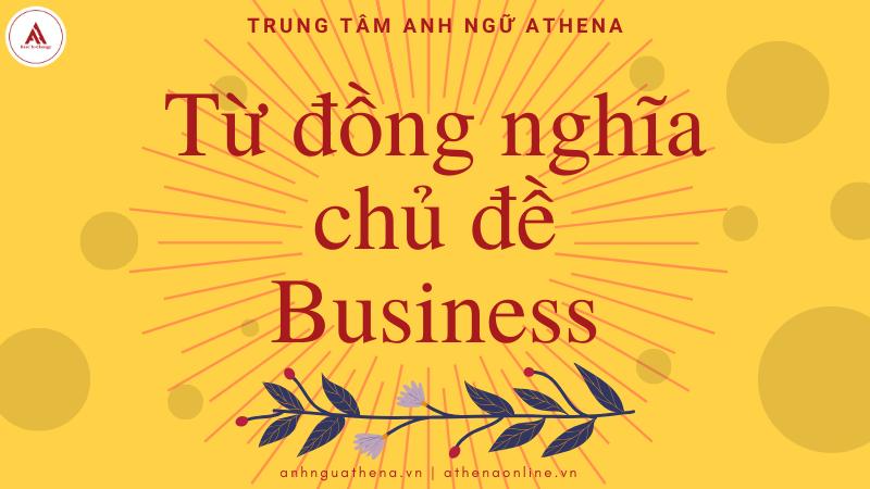 Từ đồng nghĩa chủ đề Business