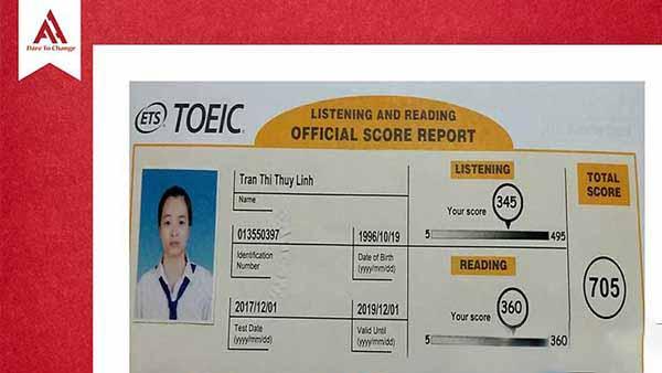 Kinh nghiệm thi TOEIC '' để đời'' của cô nàng 705 điểm
