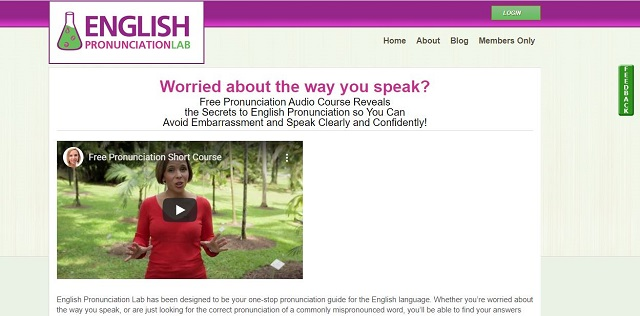 english pronunciation course