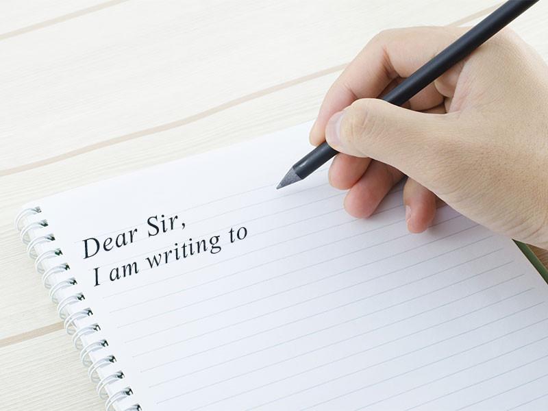 lưu ý cách viết thư