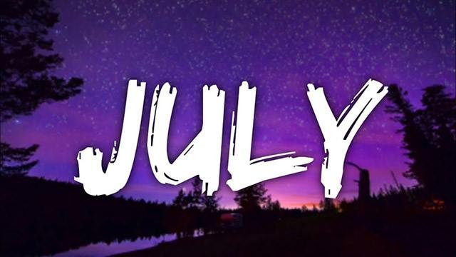 tháng 7 trong tiếng anh