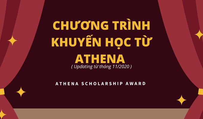 CHƯƠNG TRÌNH KHUYẾN HỌC TỪ ATHENA (UPDATE TỪ THÁNG 11/2020)